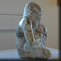 Mother and Child - Sculpture by Ed Hamilton in Alabaster