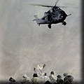 Paintings of the Falklands War - helicopter rescue